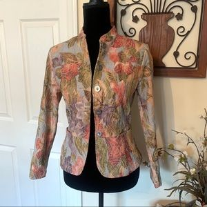 Analogy Cottage Core Floral Career Blazer PS